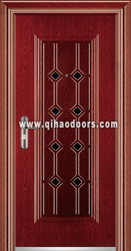 European Modern Steel Security Single Doors From China Manufacturer