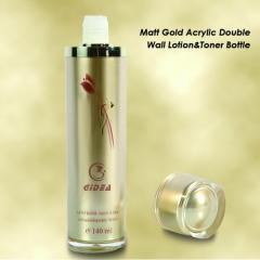 cylinder acrylic skin care lotion bottle
