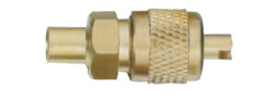 Brass valve cap for refrigeration parts