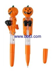 Pumpkin promotional ballpoint pen with lighting