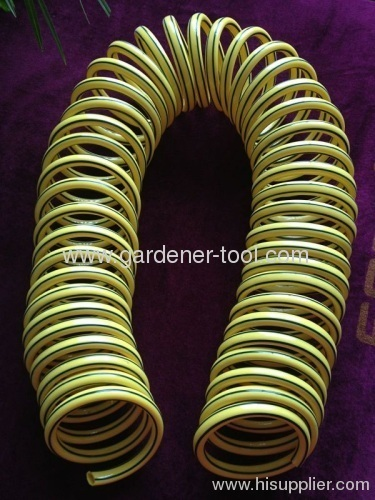 Colorful Garden Water Coil Wash Hose With Stripe