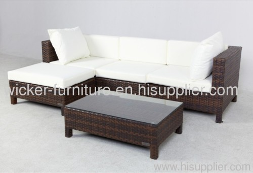 Patio rattan sofa for leisure outdoor life sets