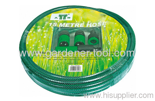 flexible water hose set is PVC water hose w/ nozzle