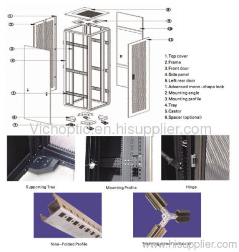 network server rack cabinet cable cabinet