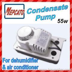 condensate pump for air conditioner and dehumidifier