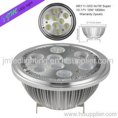 9x1w ar111 g53 led lamp 1000lm