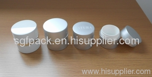 Cosmetic container Aluminum package gold supplier Anodized Aluminum container cream jar straight round plastic jar