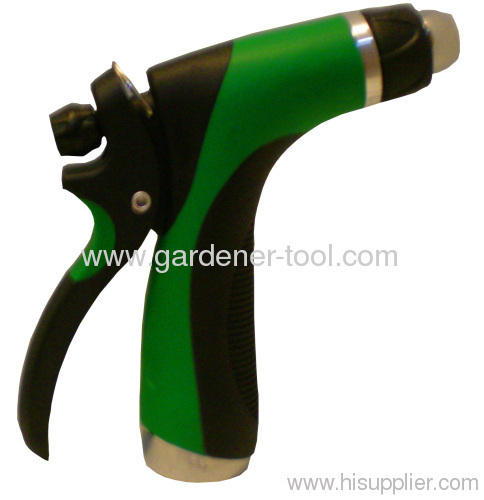 2-pattern metal water trigger nozzle with double color grip