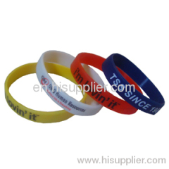 Suitable for women's yellow Silicone Wristband