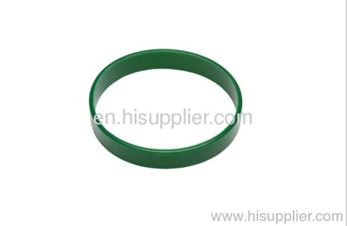 stock green color silicone wristband
