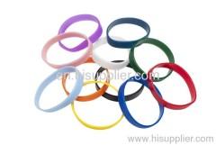 logo silkscreen printed silicone wristbands