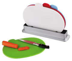 oval shape cutting board with ABS stand