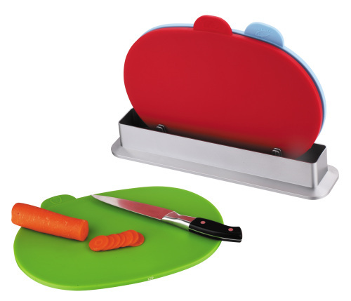 3pcs color coded cutting mat with stand