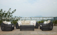 Patio wicker sofa in 4pcs for 2013 new round wicker