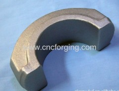 Hot metal forging processing
