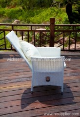 Outdoor adjustable leisure chair with adjustable pole