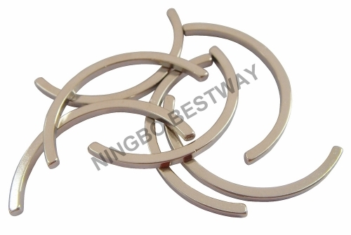 N48 Arc NdFeB magnets w/Ni coating