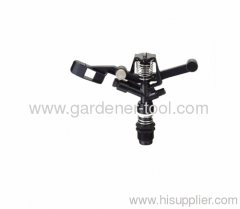 Plastic Argriculture water impulse sprinkler with double nozzle