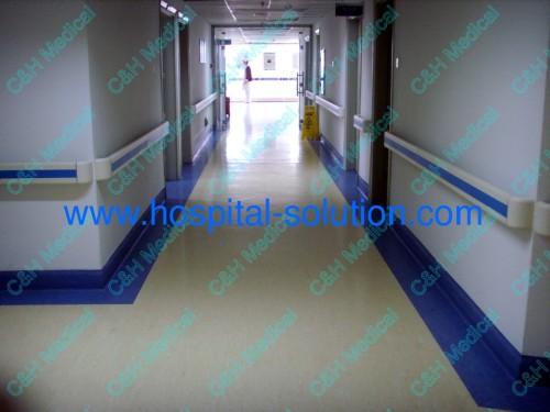 Pvc Wall Handrails : Wall protection pvc handrail as hospital equipment