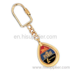 Fashion metal leather keychain