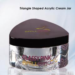 5g 10g 15g 30g 50g Triangle Acrylic Clear Jars