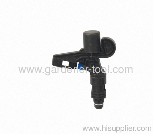 Plastic water impulse sprinkler for agriculture