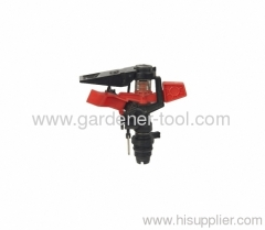 Plastic irrigation sprinkler for golf course