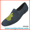 comfortable men velvet slippers with apple pattern China wholesale