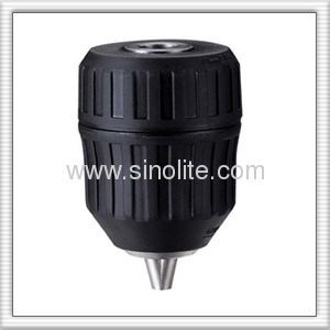 Automatic reversible drill chuck, plastic body, Diameter:1-10mm thread: 3/8-24