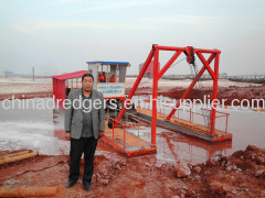 6 inch semi-hydraulic desilting cutter suction dredger