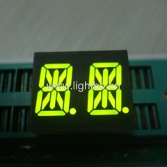 dual-digit 14-segment led display;0.54