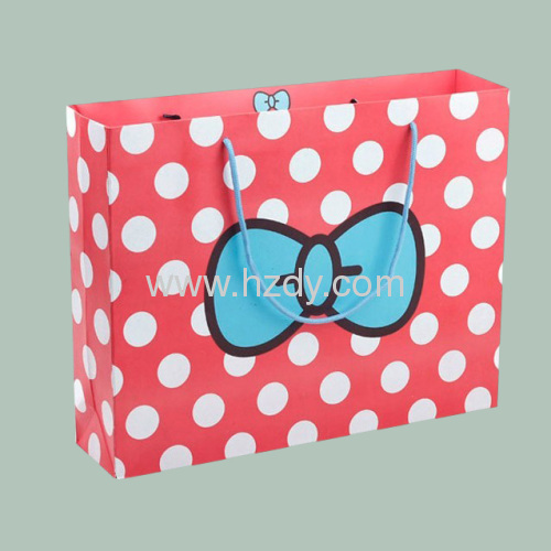 Point design printing paper bag 157g art paper bag