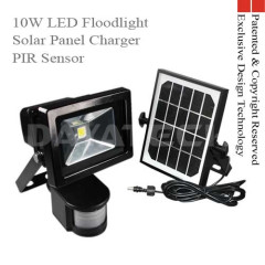 Solar Panel Charger PIR Sensor 10w LED Work Light