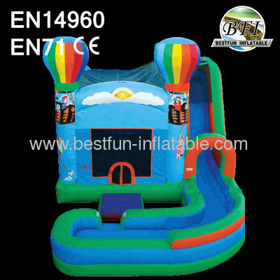 Wet / Dry Inflatable Slide Combo