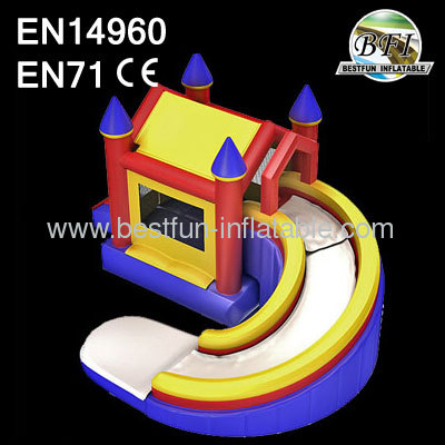 Curving Inflatable Bouncer With Slide
