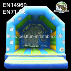 Inflatable Bouncer With Elephant Theme