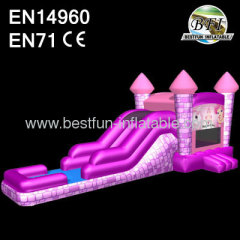 Princess Wet / Dry Inflatable Slide Combo