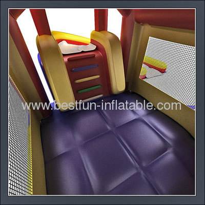 Giant Cruving Pool Inflatable Slide Bouncer