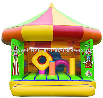 Clown Inflatable Bouncer With Circle Roof