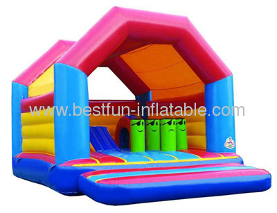 Inflatable Roof Bouncer With Pillar Inside