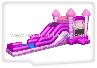 Princess Inflatable Combo Slide