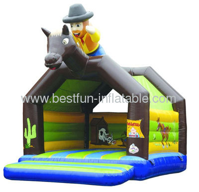 Residential Inflatable West Cowboy Bouncers