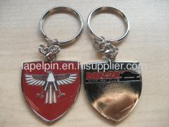 Soft enamel metal keychain