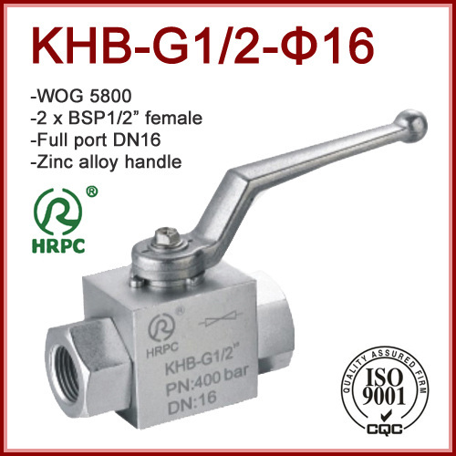 Female Thread 2 x 1/2 inch Steel Hydraulic Ball Valve Full Port WOG 7250
