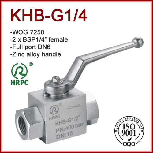 BSP 1/4Steel / Stainles Hydraulic Ball Valve Full Port FxF WOG 7250