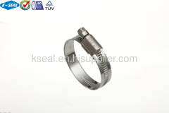 Stainless Steel embossed worm gear clamp
