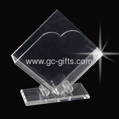 clear acrylic tissue holder displays with thick base