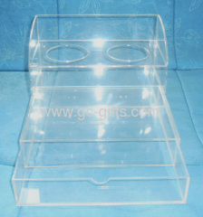 clear plastic drawer with cup holders