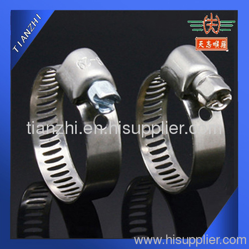automotive worm drive hose clamp