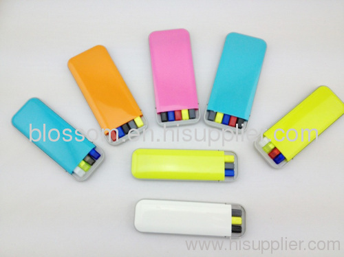 3 in 1 highlighter set in a box for promational school pen